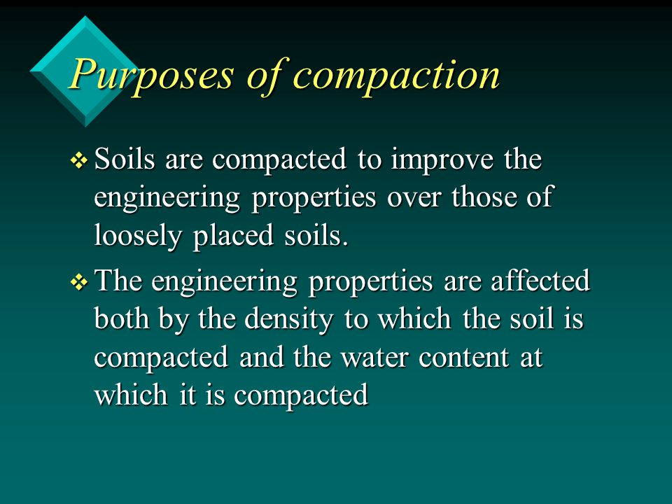 Purposes of compaction