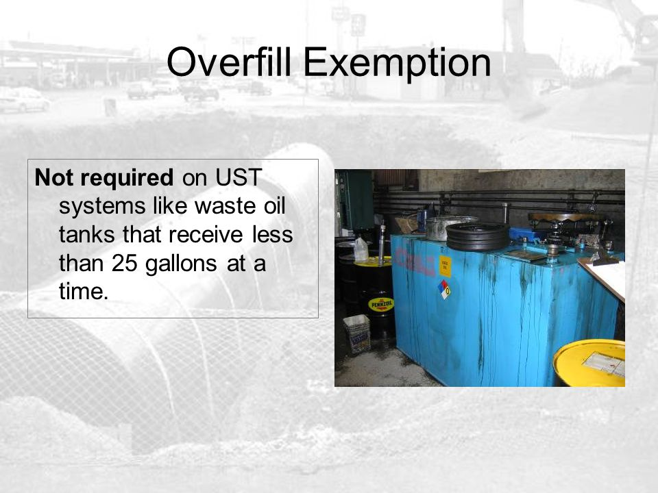 Spill and Overfill Prevention - ppt download