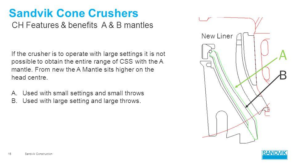 Sandvik Construction Module 4b CH & CS cone crushers - ppt