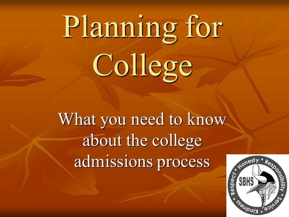 What you need to know about the college admissions process