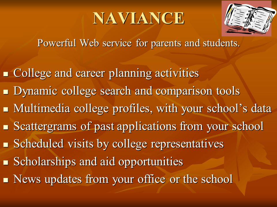 Powerful Web service for parents and students.