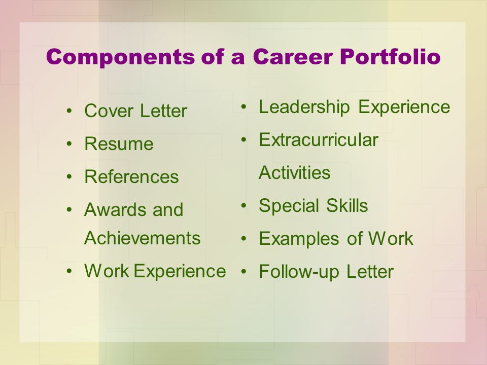 Career portfolio georgia gps standard fs ctae 10 career development components of a career portfolio 5 cover letter way of introducing yourself to prospective expocarfo Choice Image