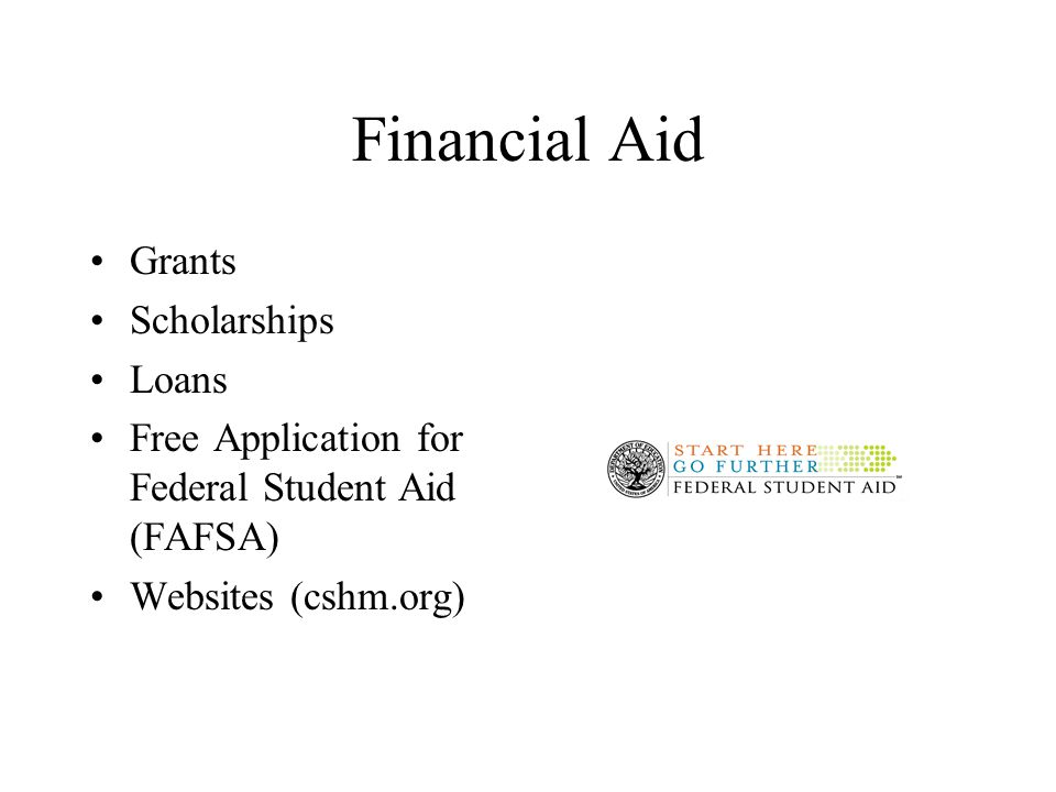 Financial Aid Grants Scholarships Loans