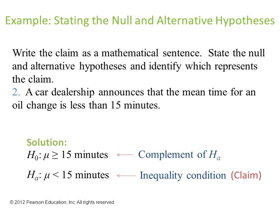 how do you write a hypothesis statement