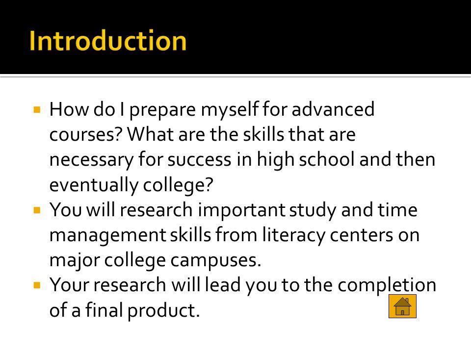 College study success webquest