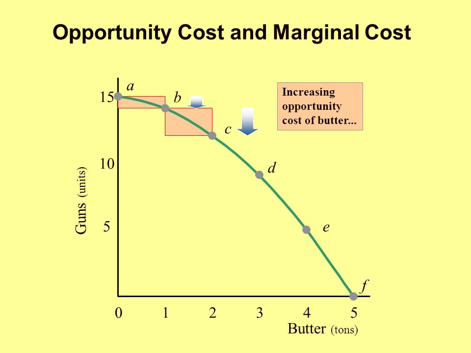 Opportunity Cost and Marginal Cost