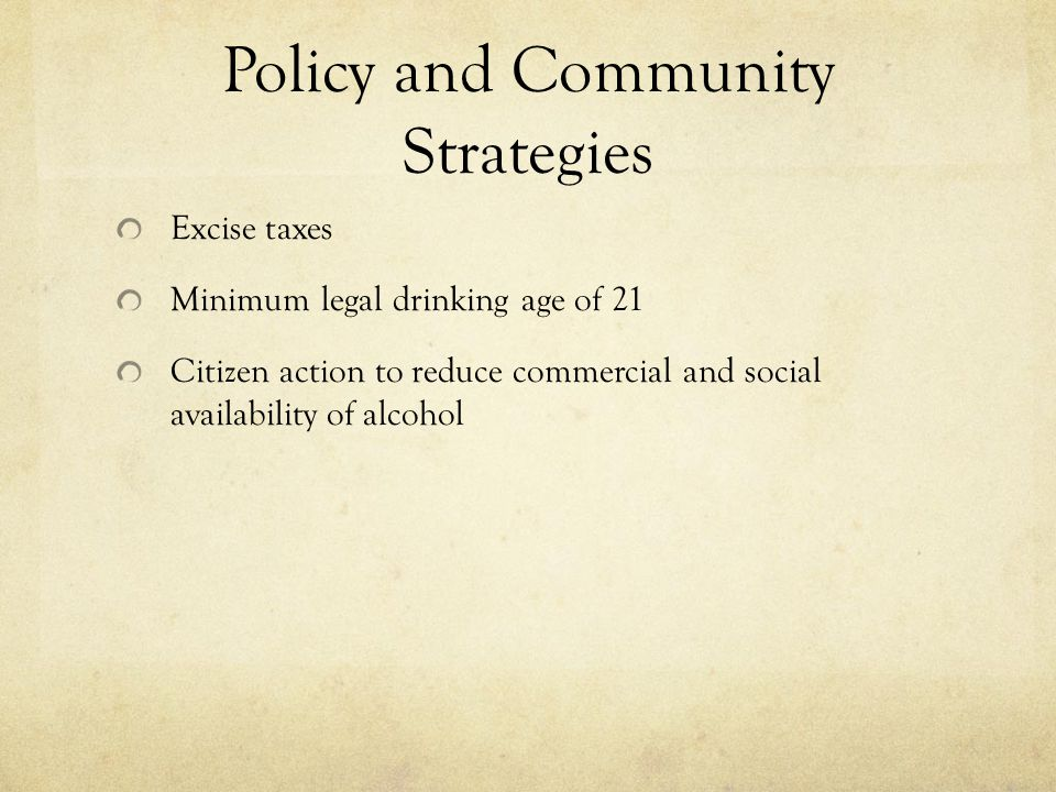 Policy and Community Strategies
