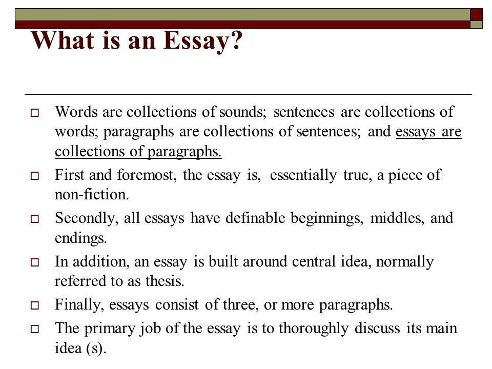 The structure of an essay ppt download
