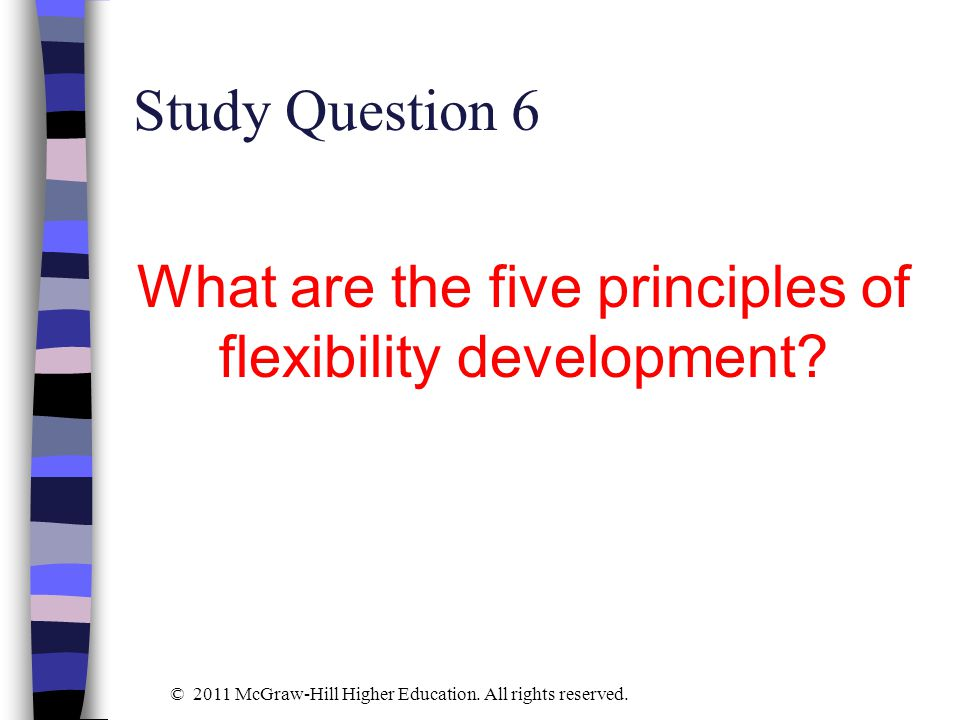 What are the five principles of flexibility development