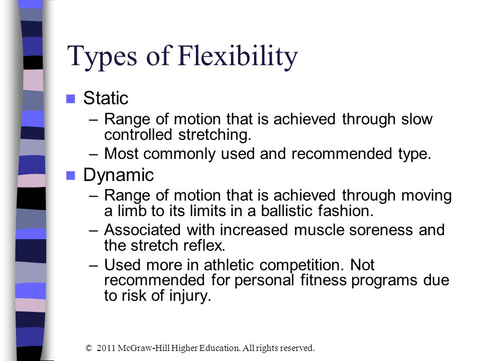 Types of Flexibility Static Dynamic