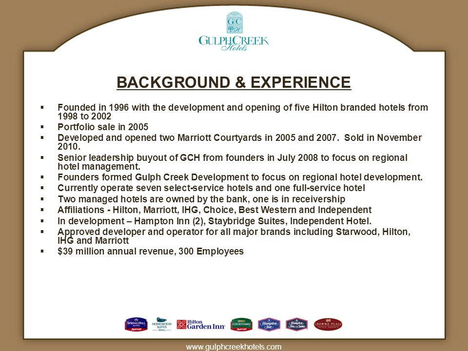 BACKGROUND & EXPERIENCE