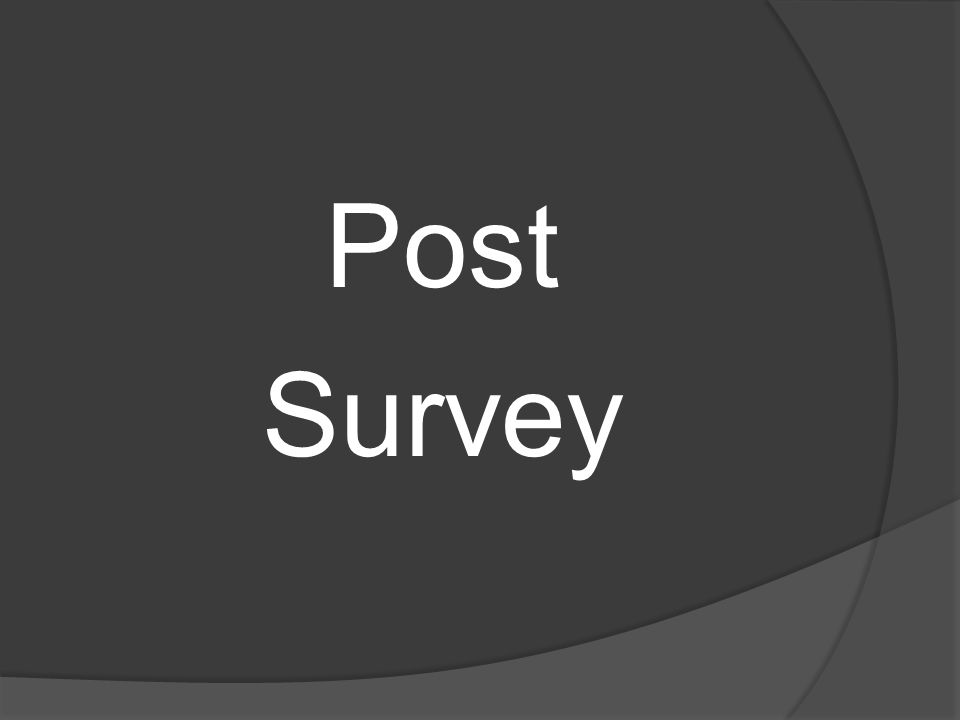 Post Survey