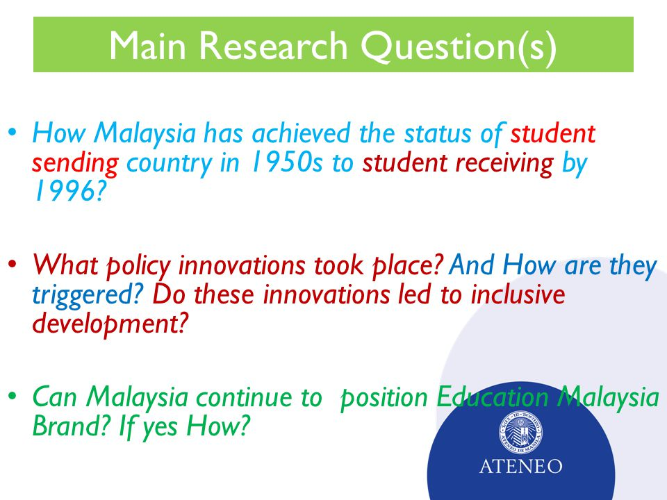 Malaysian higher education policy innovations ppt video online malaysian higher education policy innovations 2 main malvernweather Images