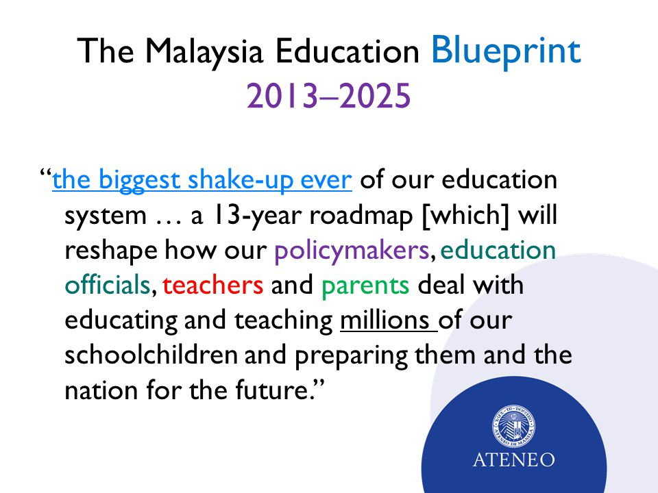 Malaysian higher education policy innovations ppt video online the malaysia education blueprint 20132025 malvernweather Choice Image
