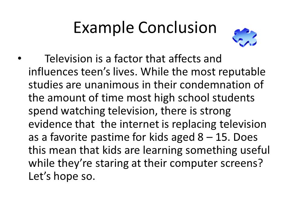 what is a conclusion for kids