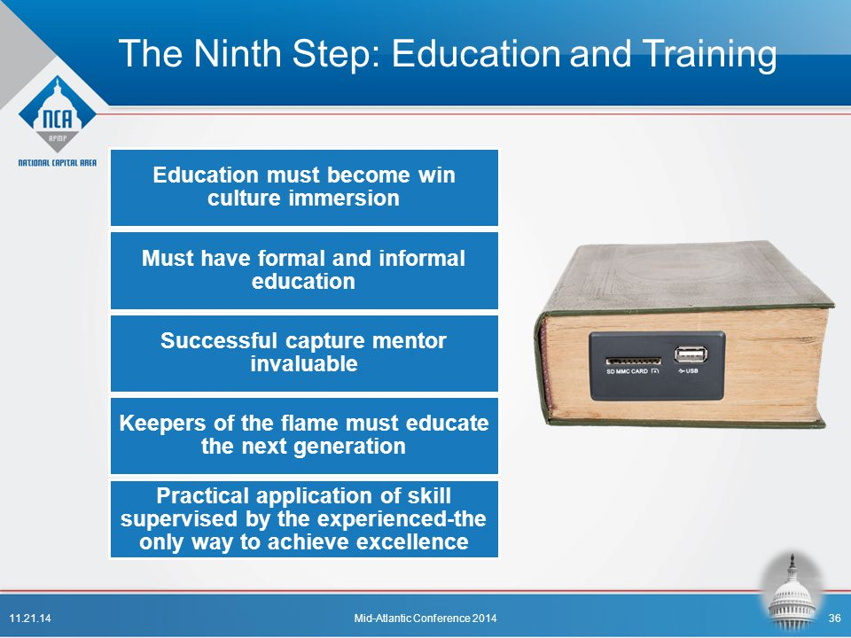 The Ninth Step: Education and Training