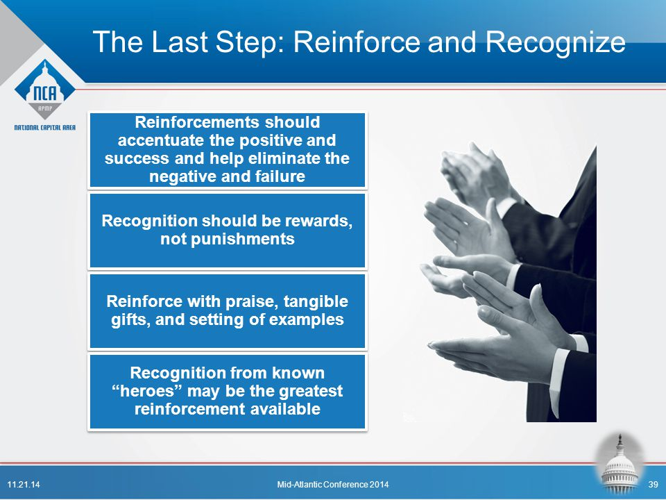 The Last Step: Reinforce and Recognize