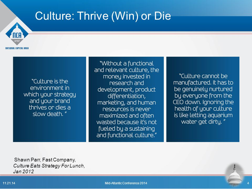Culture: Thrive (Win) or Die