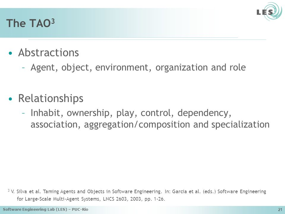The TAO3 Abstractions Relationships
