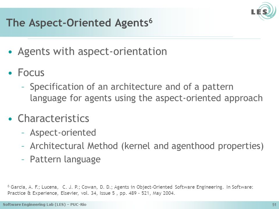 The Aspect-Oriented Agents6