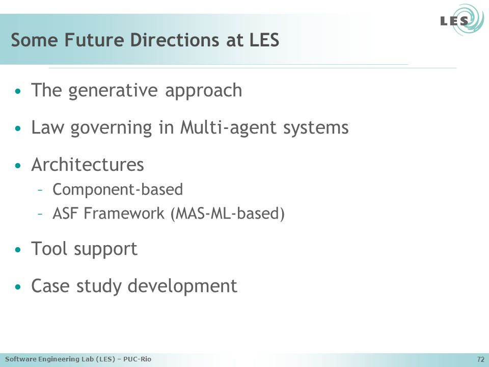 Some Future Directions at LES