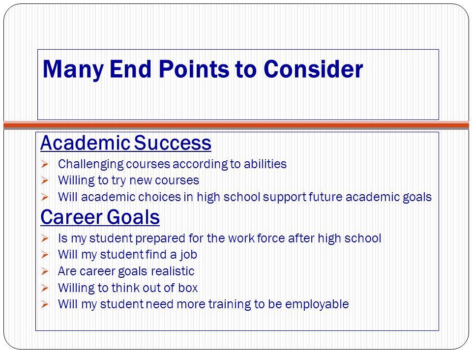 future goals after high school