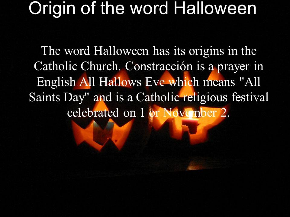 origin of the word halloween