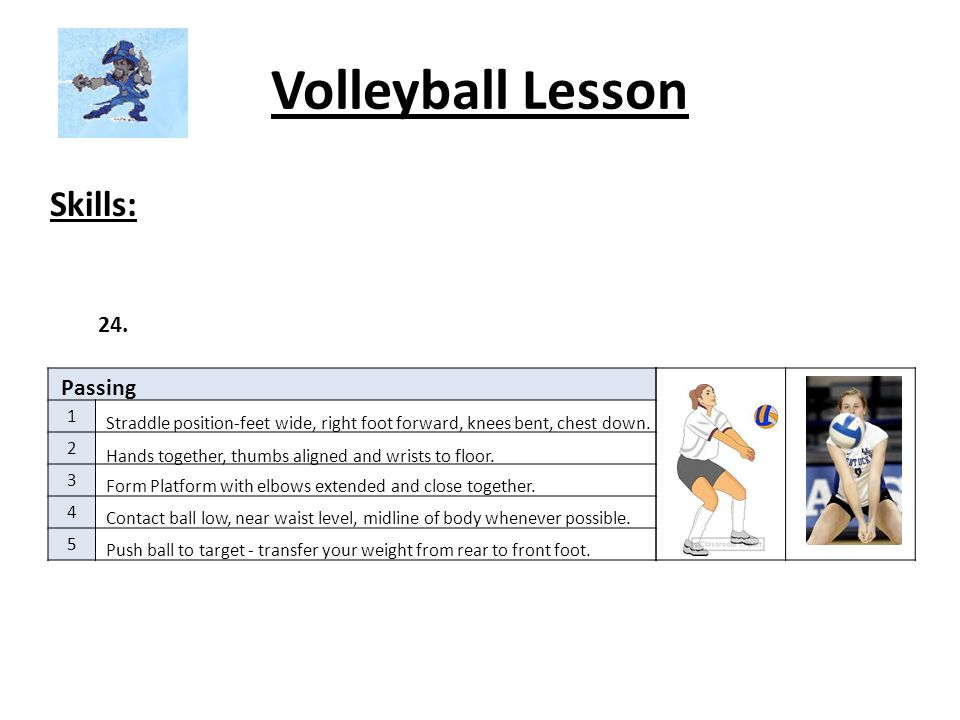 Volleyball Lesson Skills: 24. Passing