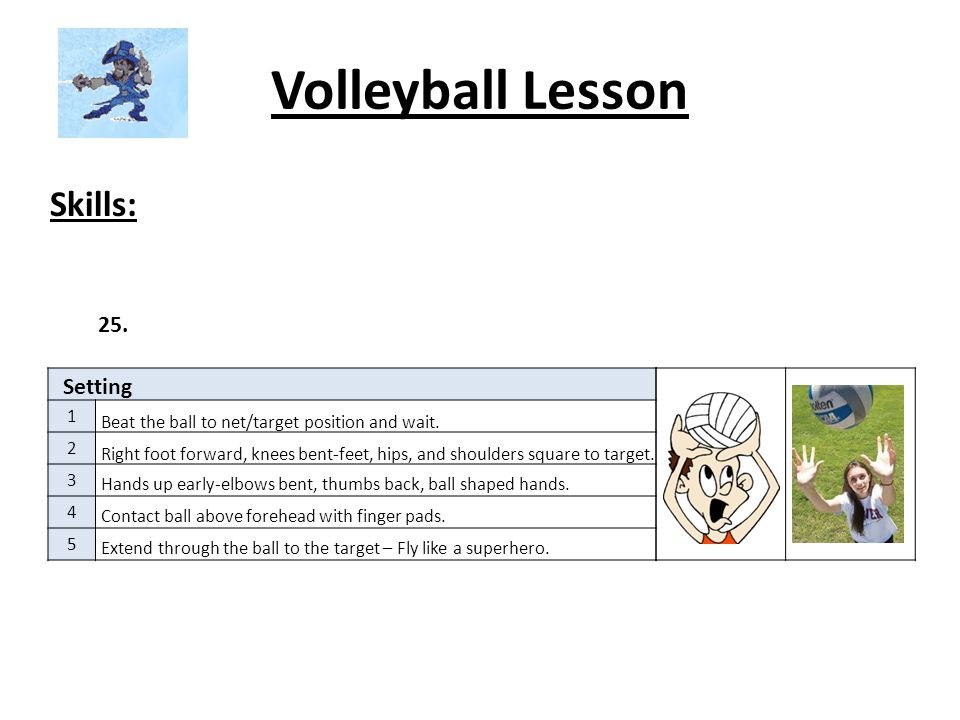 Volleyball Lesson Skills: 25. Setting