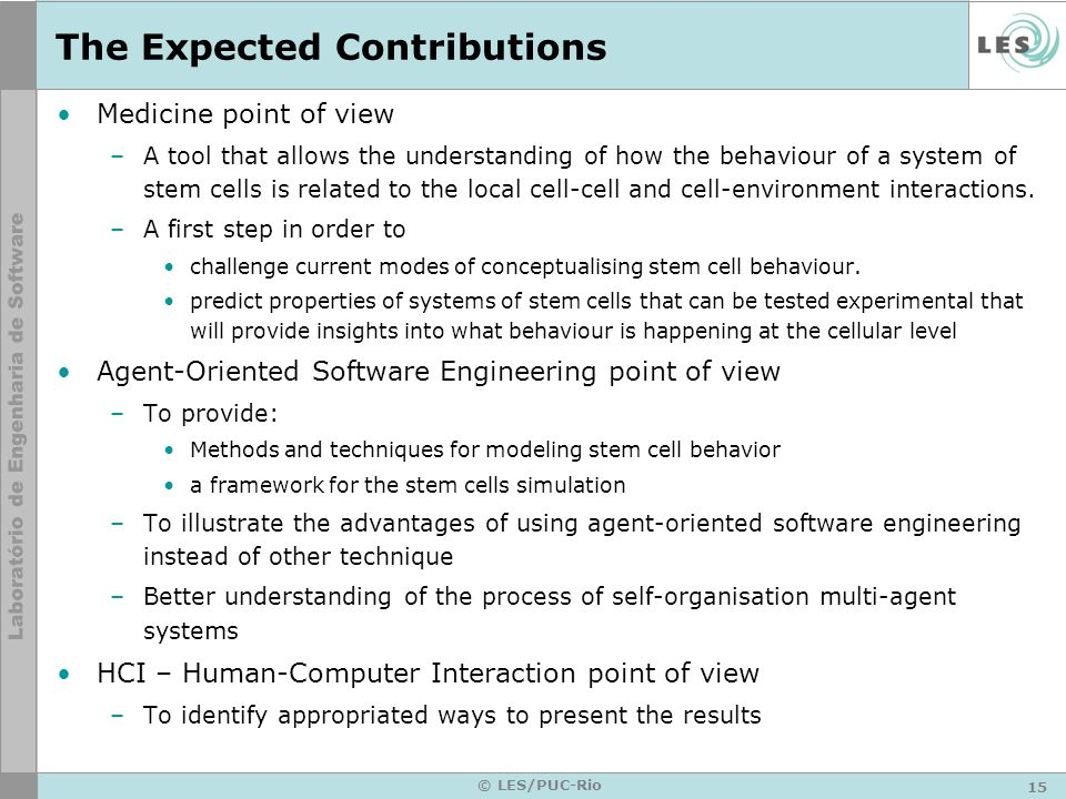 The Expected Contributions