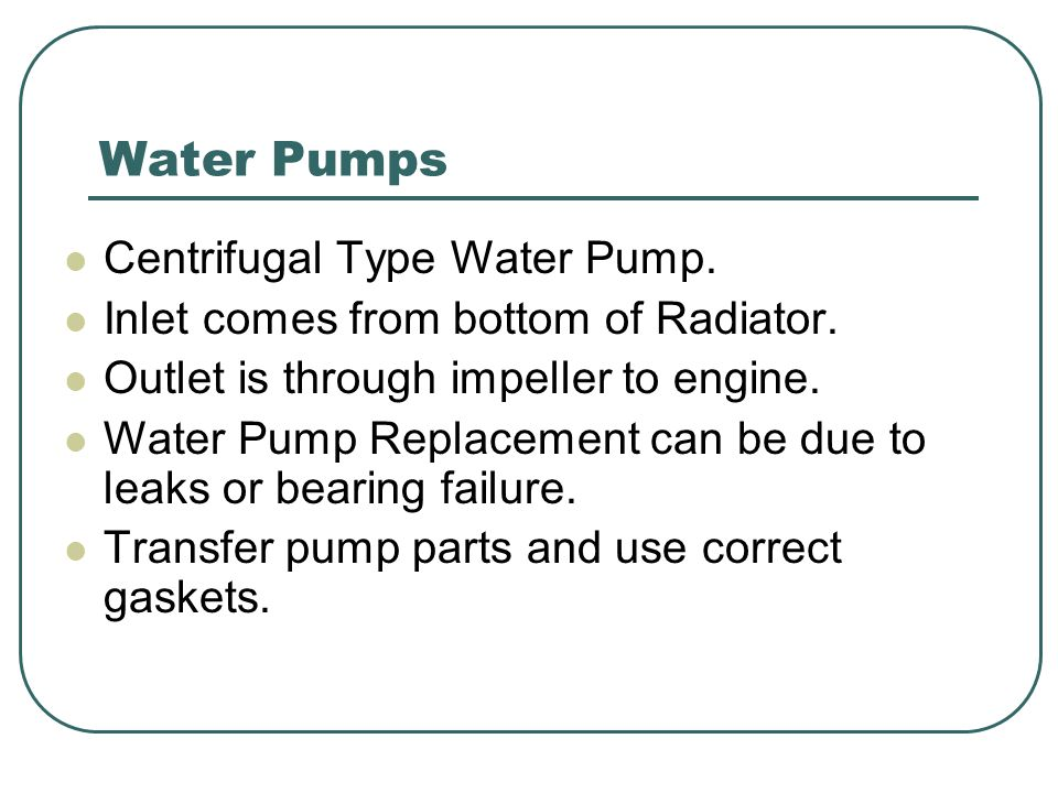 Water Pumps Centrifugal Type Water Pump.