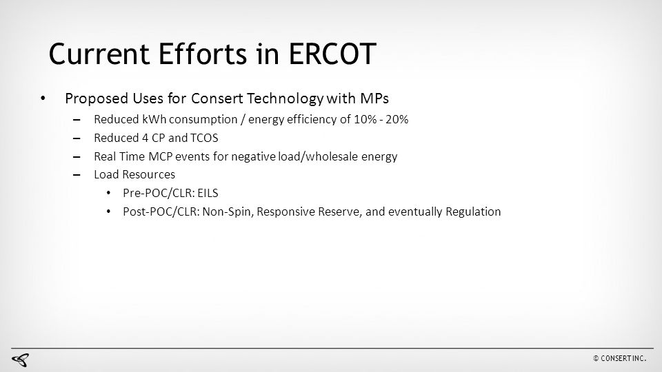 Current Efforts in ERCOT