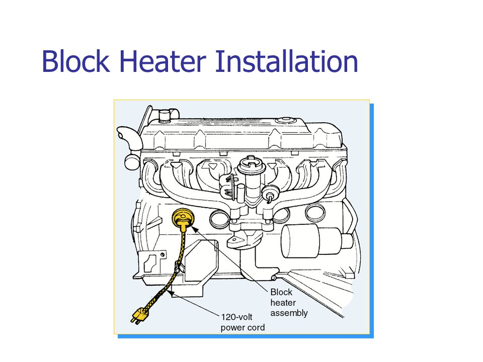 Block Heater Installation