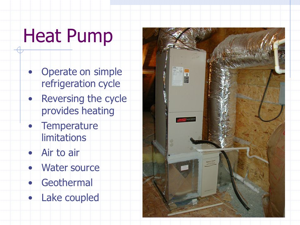 Heat Pump Operate on simple refrigeration cycle