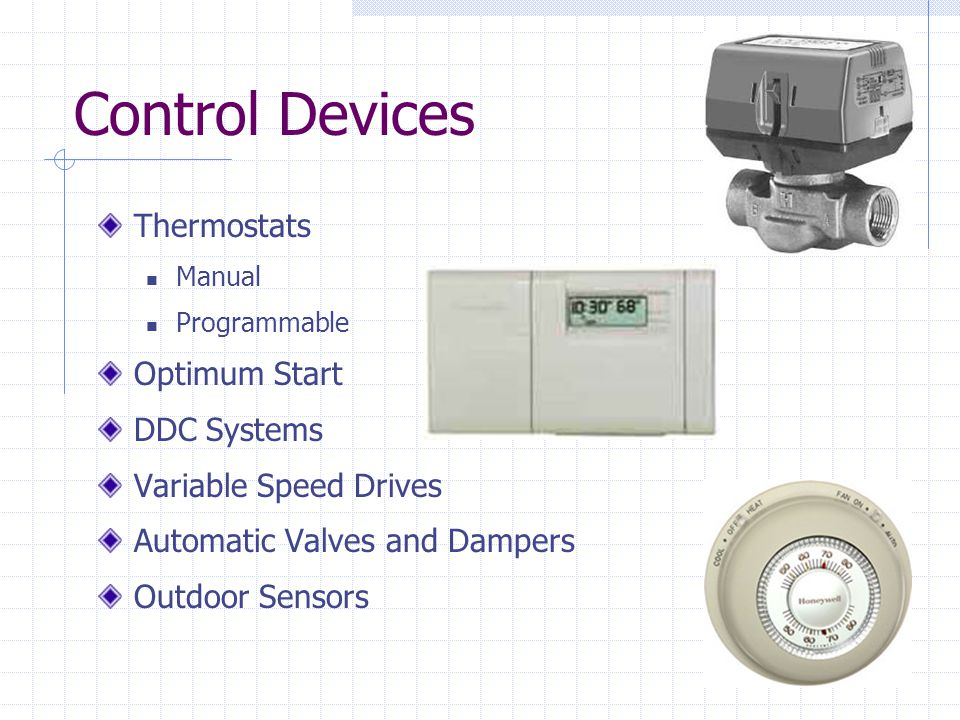 Control Devices Thermostats Optimum Start DDC Systems