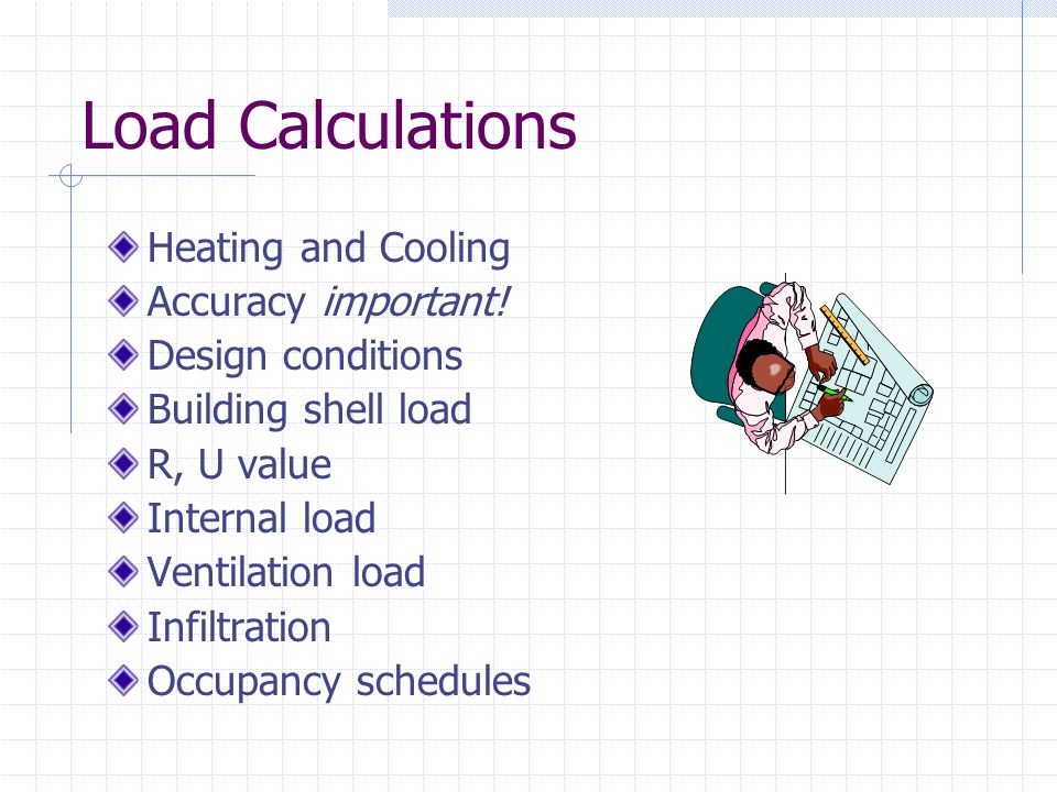 Load Calculations Heating and Cooling Accuracy important!