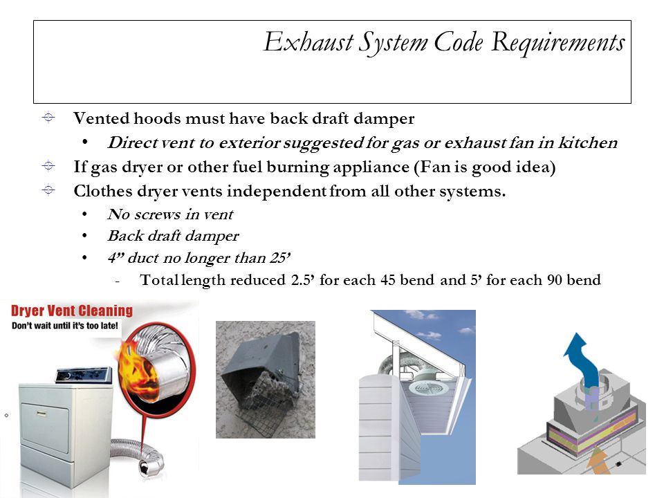 Exhaust System Code Requirements