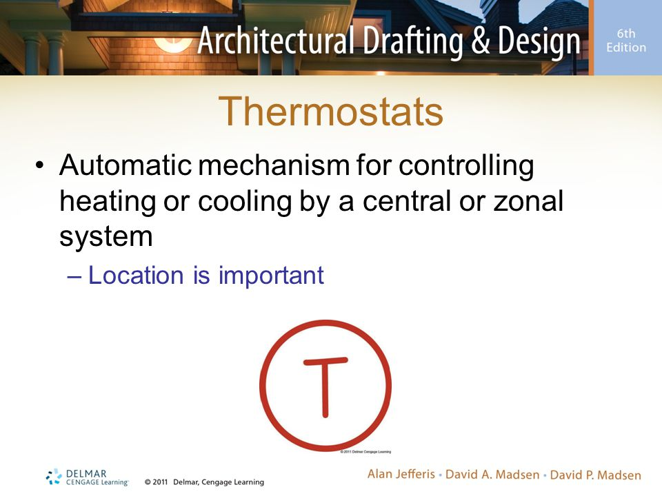 Thermostats Automatic mechanism for controlling heating or cooling by a central or zonal system.
