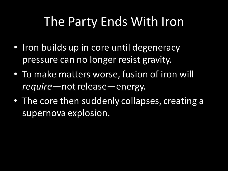 The Party Ends With Iron