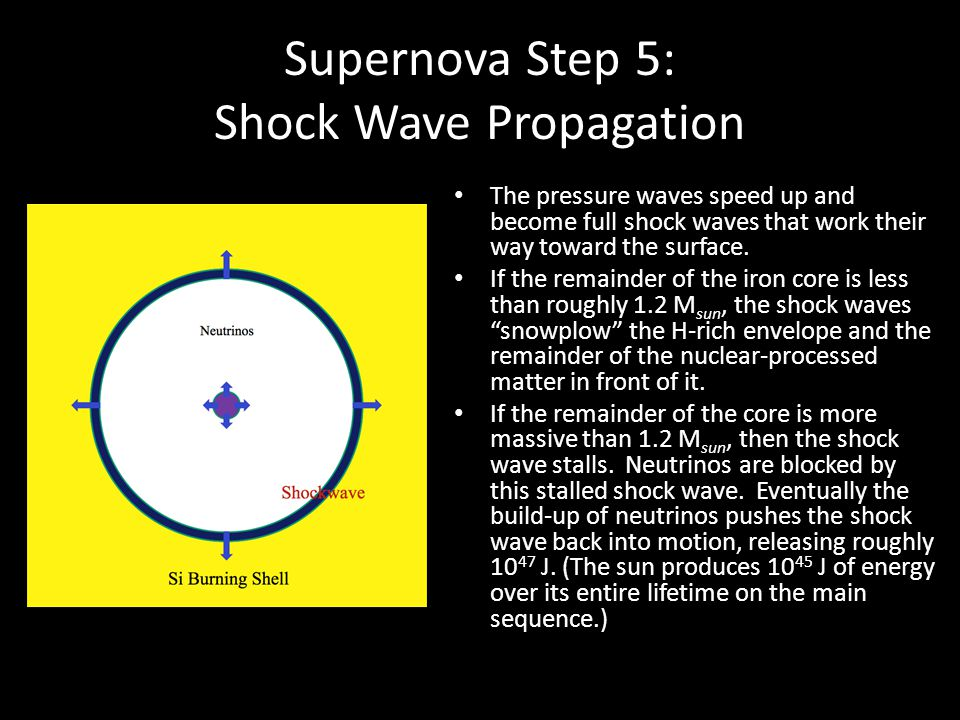 Supernova Step 5: Shock Wave Propagation