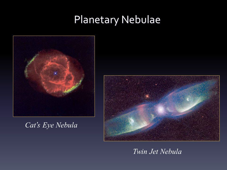 Planetary Nebulae Cat's Eye Nebula Twin Jet Nebula