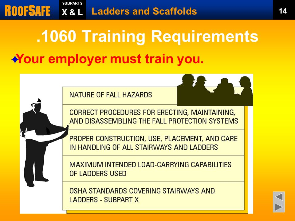 Ladders and Scaffolds Trainer's Notes: - ppt download
