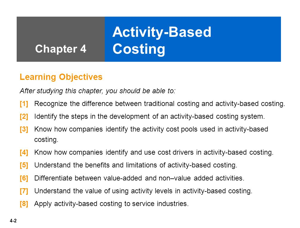 benefits of activity based costing