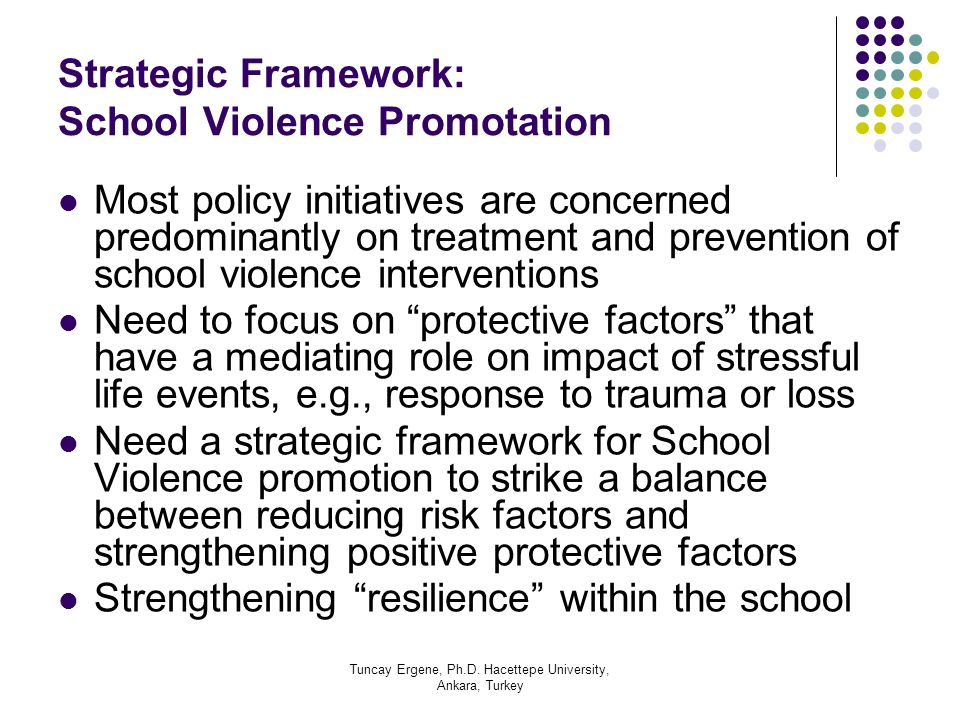 Strategic Framework: School Violence Promotation