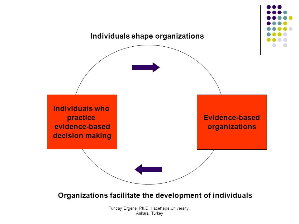 Individuals shape organizations