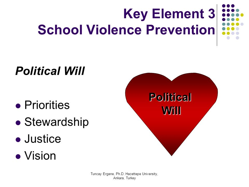 Key Element 3 School Violence Prevention