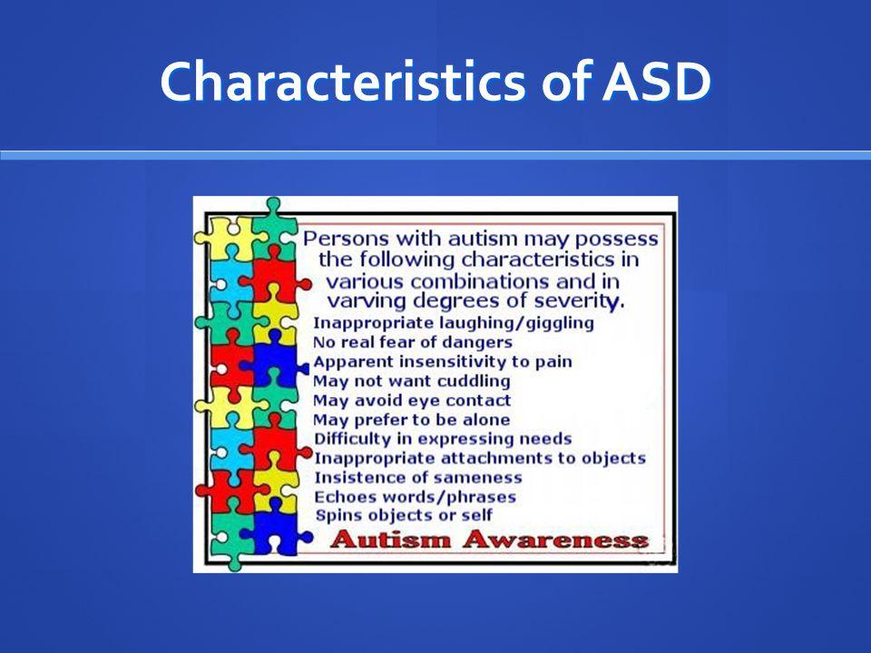 characteristics of autism spectrum disorder pdf