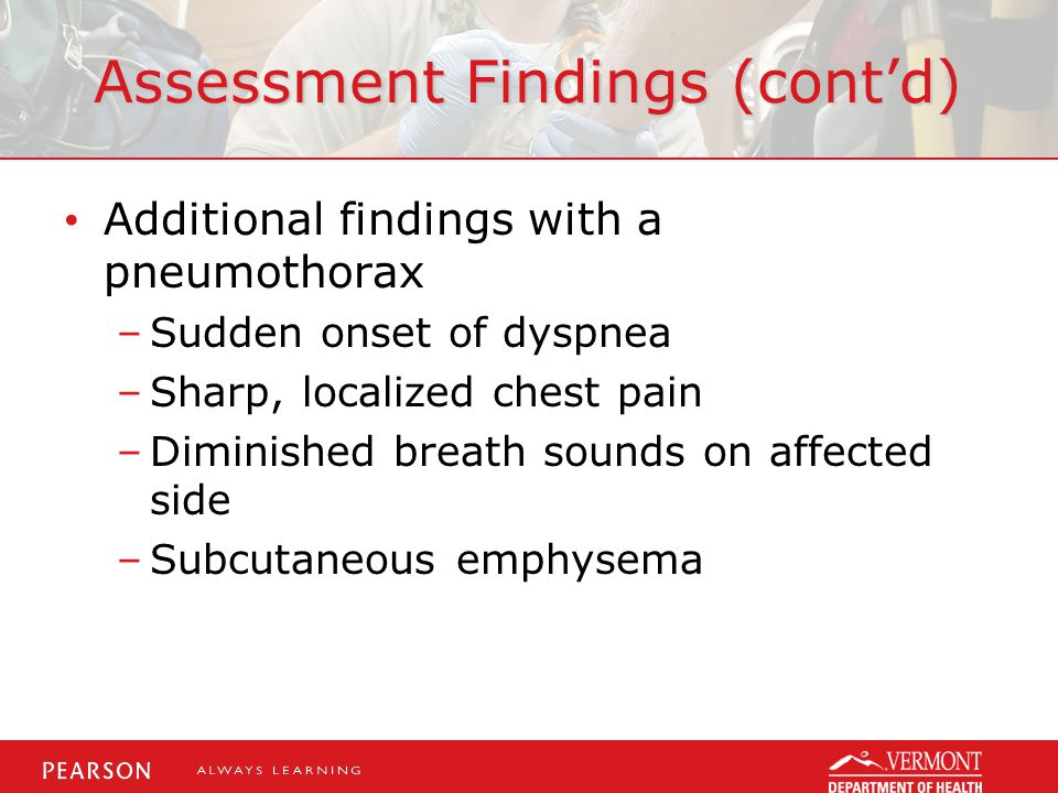 Assessment Findings (cont'd)