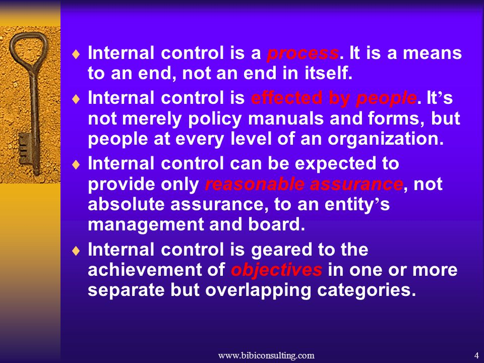 Internal control is a process