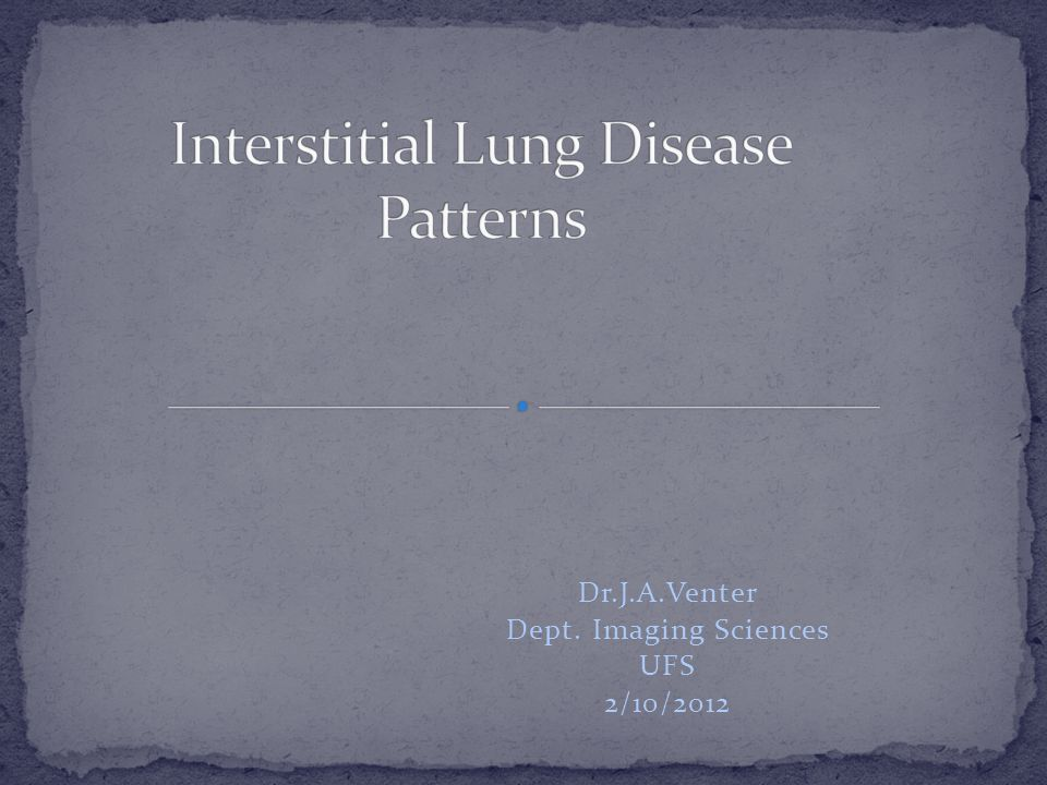 Interstitial Lung Disease Patterns